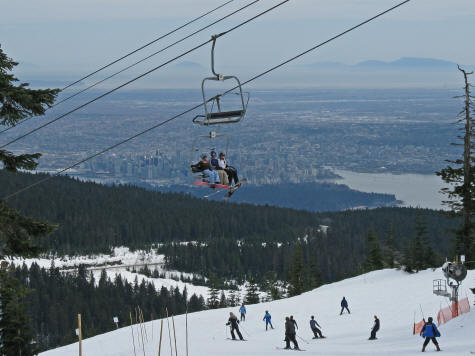 Cypress Mountain Olympic Ski Venue Near Vancouver Canada