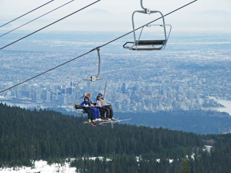 View of Vancouver from Cypress Mountain