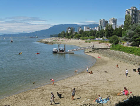 English Bay in Vancouver Canada