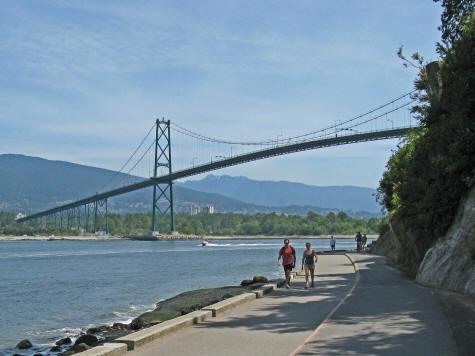 Lions Gate Bridge In Vancouver Canada